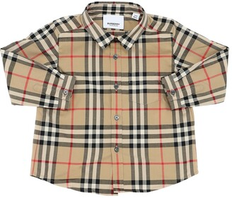 Burberry Check Print Cotton Flannel Shirt
