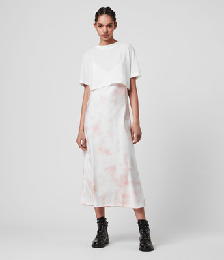 AllSaints Benno Dye 2-in-1 T-Shirt Dress