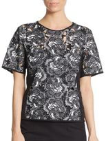 Nanette Lepore Romance Embroidered Top
