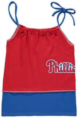 Unbranded Girls Preschool Refried Tees Red Philadelphia Phillies T-Shirt Tank Top Dress