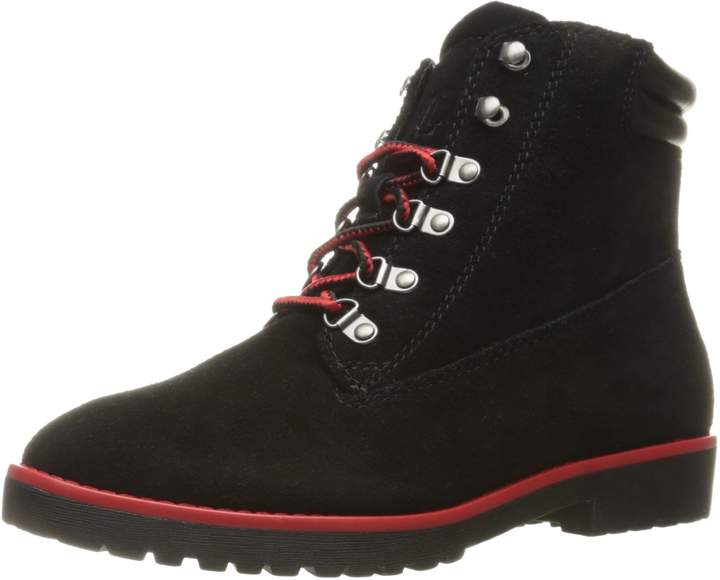 Lauren Ralph Lauren Lauren by Ralph Lauren Women's Mikelle Boot, Black Oilsuede/Super Soft Leather, 8.5 B US
