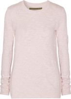 Enza Costa Slub cotton-jersey top