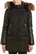 Mackage Cynthia Leather-Trim Down Coat
