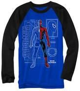Spiderman Boys' Long Sleeve T-Shirt - Royal Blue