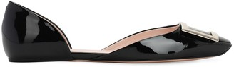 Roger Vivier 10mm Dorsay Patent Leather Ballerina