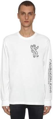 Calvin Klein Established 1978 GRAPHIC PRINTED LS COTTON BLEND T-SHIRT