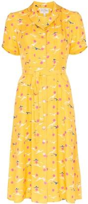 HVN Maria seagull-print dress