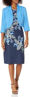 Maya Brooke Women's Paisley Print Jacket Dress