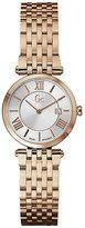 Gc ladies' rose gold-plated slim bracelet watch