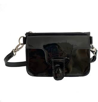 Kartu Studio Natural Leather Mini Cross Body Marigold- Glossy Black With Extra Wide Belt