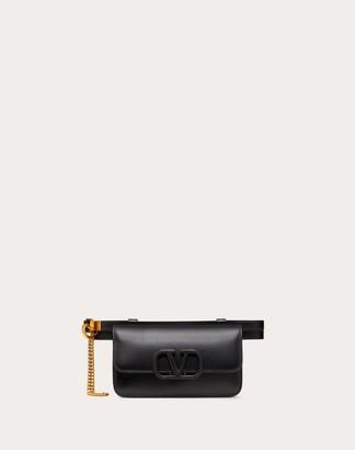 Valentino Vsling Glossy Calfskin Belt Bag Women Black Calfskin 100% 105