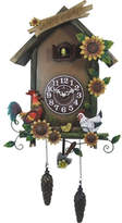 Cambridge Silversmiths Welcome Cuckoo Clock with Farm Animals and Flowers