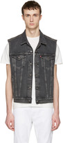 Levi's Grey Denim Trucker Vest