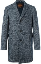 Tod's herringbone tweed coat - men - Calf Leather/Polyamide/Polyester/Virgin Wool - L