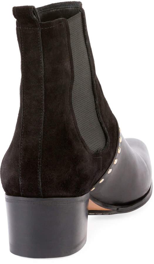 Balmain Artemisia Studded Chelsea Boot, Black