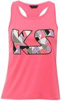 M&Co Kylie Sport print racer back vest top