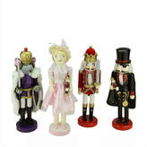 Asstd National Brand Wooden Nutcracker Suite Ballet Decorations- Set of 4