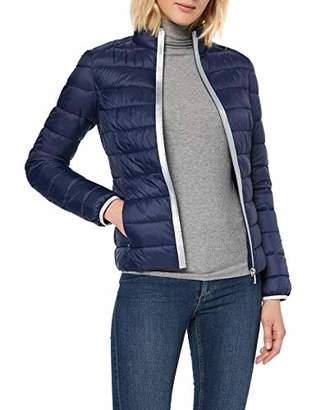 Trussardi Jeans Women's Mid Collar Slim Fit Matt Light Coat,(Size: 48)