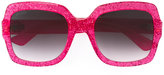 Gucci glitter optyl template sunglasses - women - Acetate - 54