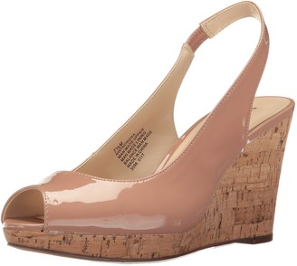 Nine West Women's Nordra Patent Wedge Sandal