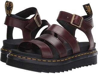 Dr. Martens Blaire Zebrilus (Blue Moon/Black) Women's Sandals
