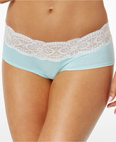 Cosabella Sonia Two-Tone Lace-Waist Boyshort SONIT0741
