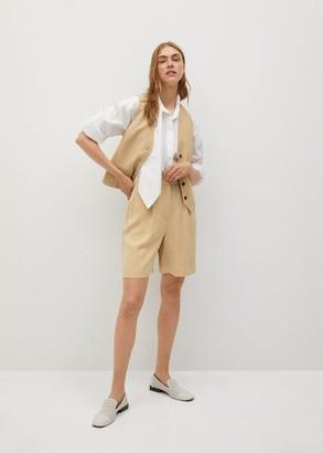 MANGO Buttons suit waistcoat beige - XS - Women