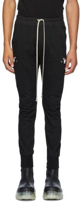 Rick Owens Black Jersey Jogger Cargo Pants