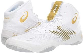 Asics JB Elite IV (Brilliant White/Rich Gold) Men's Wrestling Shoes