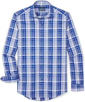 Buttoned Down Men's Tailored Fit Supima Cotton Spread-Collar Dress Casual Shirt