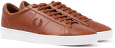 Fred Perry Spencer Tan Brown Leather Trainers