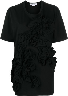 Comme des Garçons Comme des Garçons oversized ruffled T-shirt