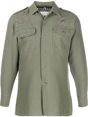 John Richmond Patchwork Military Shirt