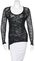Helmut Lang Crochet Asymmetrical Sweater