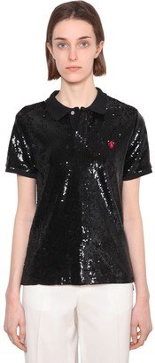 Polo Ralph Lauren Sequined Mesh Polo