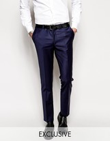 Noose & Monkey Suit Pants With Stretch In Super Skinny Fit