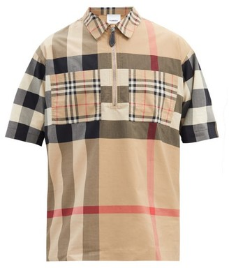 Burberry Duffus Vintage-check Cotton-blend Shirt - Beige
