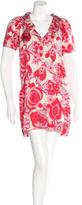 Balenciaga Floral Print Silk Dress