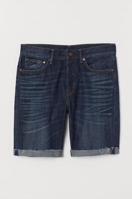 H&M Straight Denim Shorts - Blue