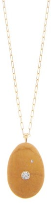 Cvc Stones Bronze Diamond & 18kt Gold Necklace - Brown