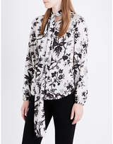 McQ by Alexander McQueen Floral-print satin blouse