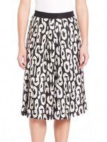 Pauw Printed Silk Skirt