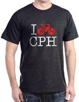 CafePress - I Bike Copenhagen Multi-Colored T-Shirt - Comfortable Cotton T-Shirt