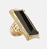 Avenue Onyx Rectangle Stretch Ring