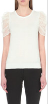 Claudie Pierlot Magic cotton and silk-blend jumper
