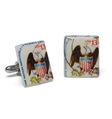 Brooks Brothers 1975 Eagle Shield Stamp Cuff Links