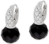 Judith Ripka As Is Sterling Faceted Black Spinel Earrings