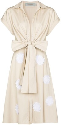 Silvia Tcherassi Floral Applique Dress
