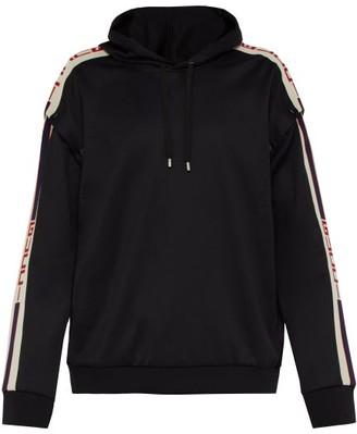 Gucci Logo Tape Detachable Sleeve Hooded Sweatshirt - Mens - Black White