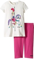 Moschino Kids - Carousel Graphic T-Shirt Leggings Set Girl's Active Sets